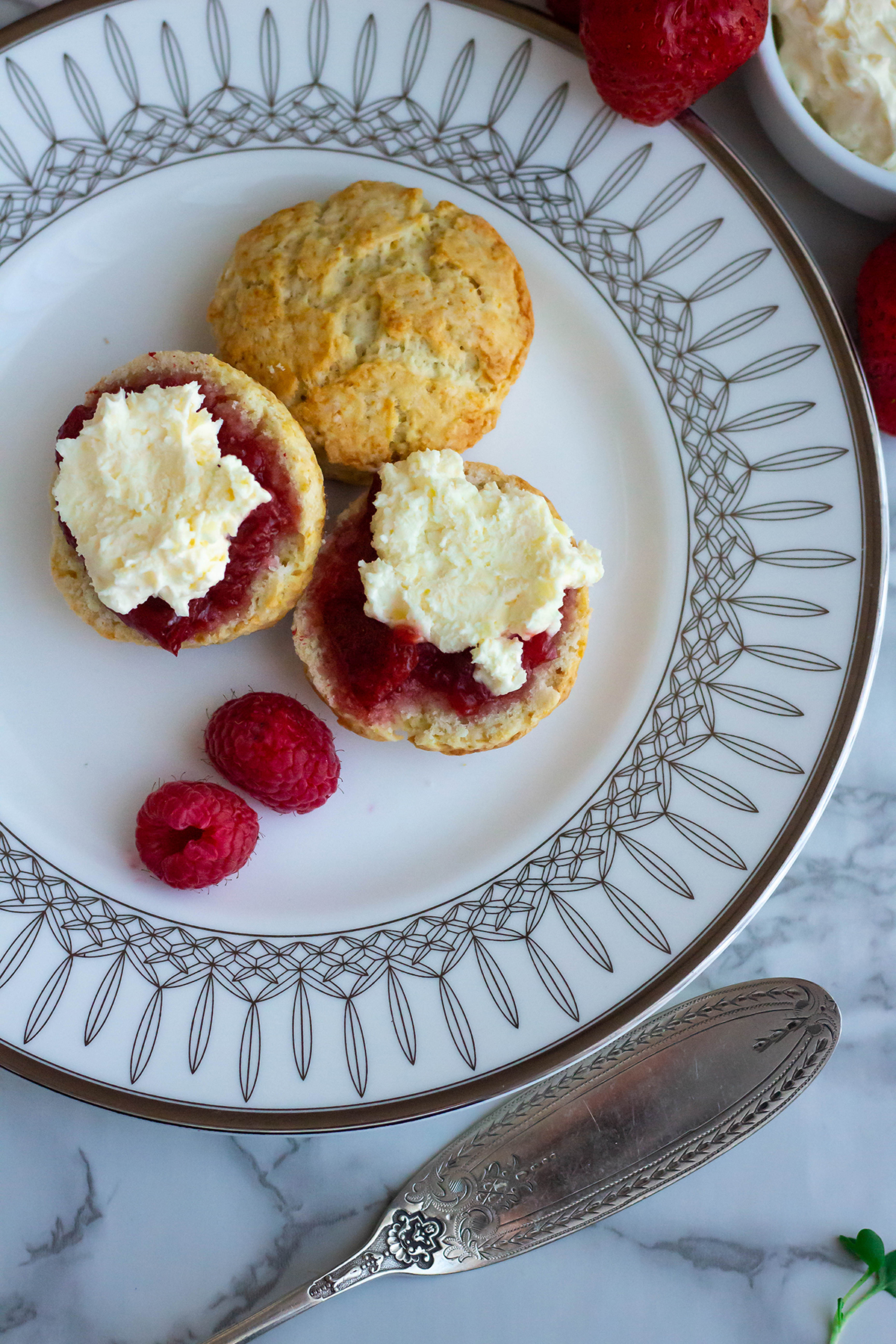 Downton Abbey Scones With Clotted Cream Feast Of Starlight