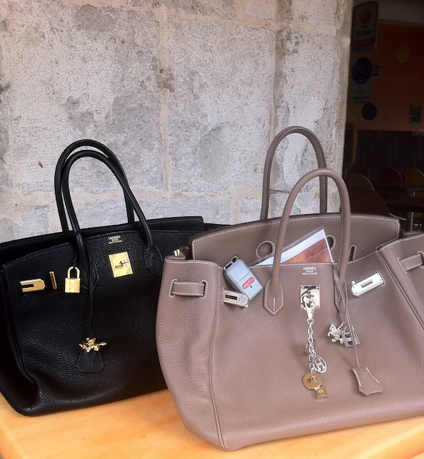 ABG and her sister's bags at a cafe in France