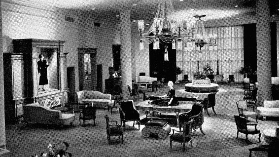 Bonwit Teller (a high end department store) in the 1950s, via Architectural Forum