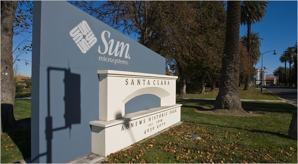 Sun's headquarters in Santa Clara, via