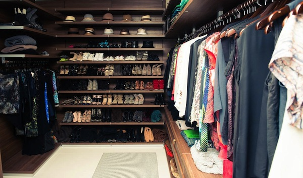 Walker's own beautiful closet, via The Coveteur