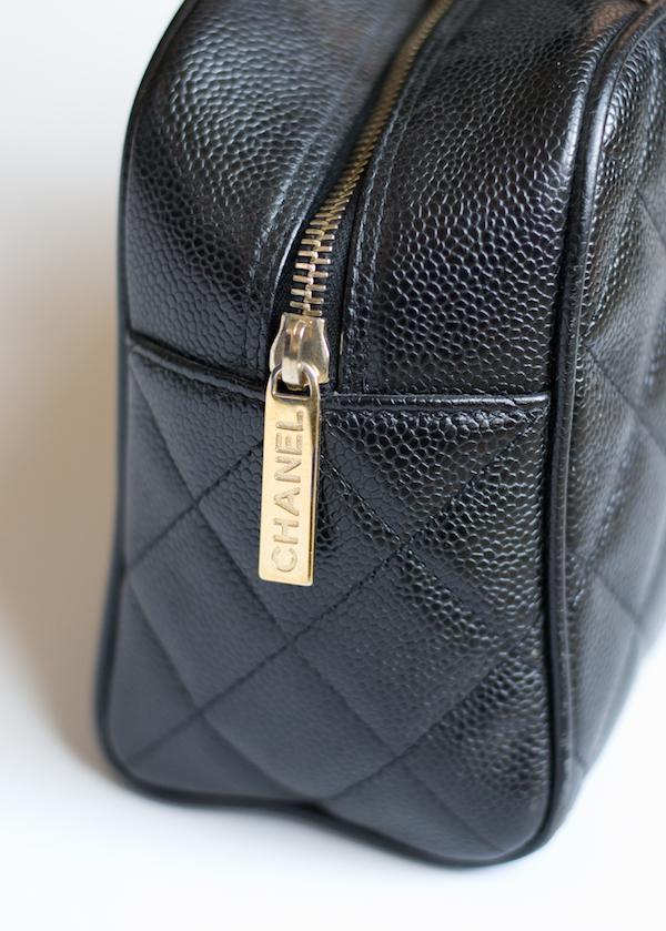 Chanel bowler zipper