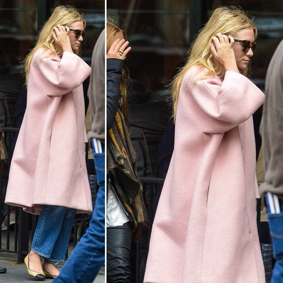 ashley olsen pink coat