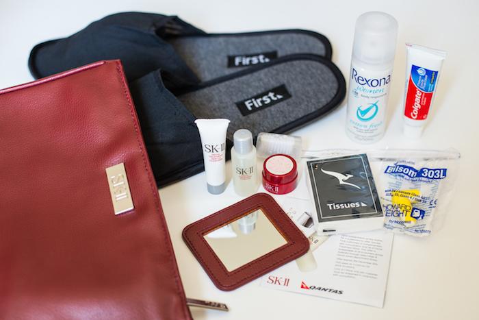 Qantas A380 First Class Toiletries