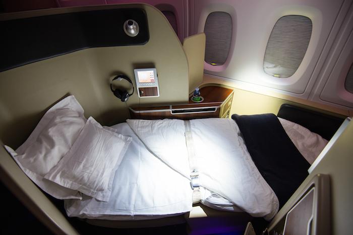 Qantas A380 First Class Turndown