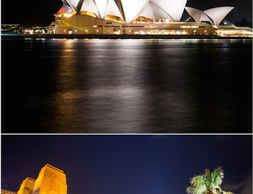Sydney Opera House Bridge View Night