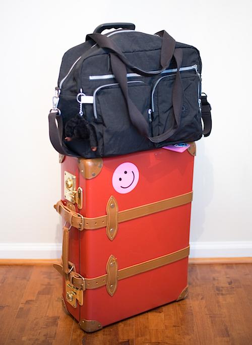 Kipling on Luggage Front