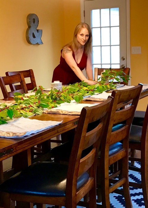 Fall Dinner Party - Setting the Table