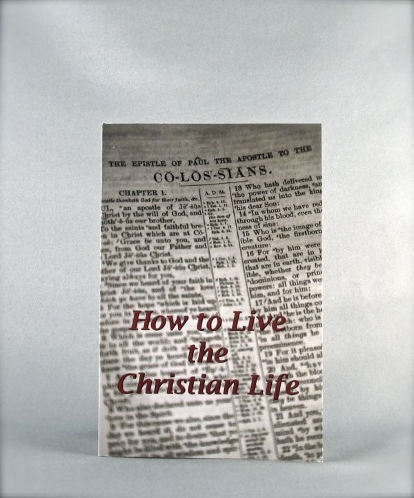 How to Live the Christian Life
