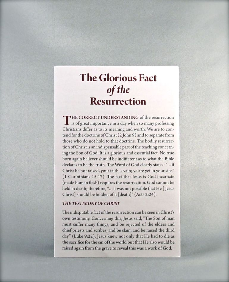 The Glorious Fact of the Resurrection