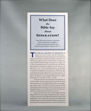 What Does the Bible Say About Separation?