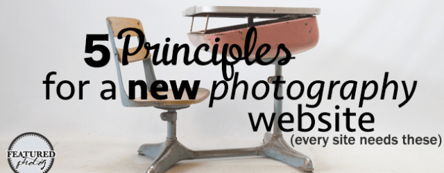 5principles fof a new photography website