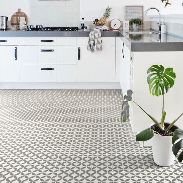 Ronda Grey Sheet Vinyl Flooring M Wide Per M - Sheet vinyl flooring 14 feet wide