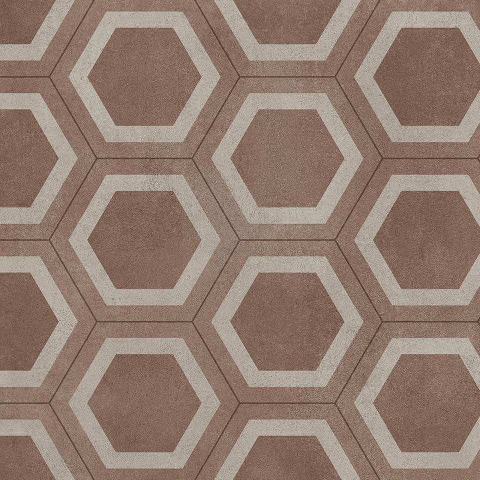 Hex Red Vinyl Flooring M Wide Per M - Sheet vinyl flooring 14 feet wide