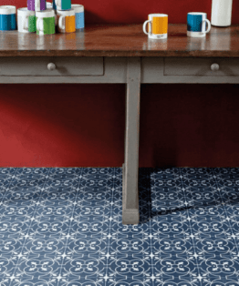 Ruskin Blue Sheet Vinyl Flooring