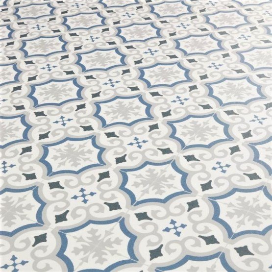 Cuenca Blue Sheet Vinyl Flooring