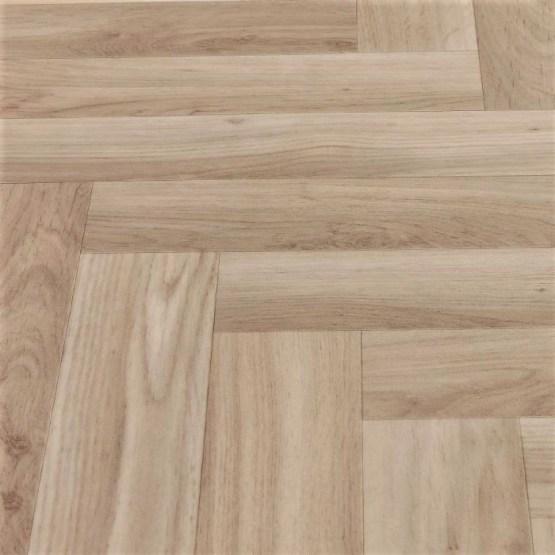 Herringbone Parquet Light Oak Sheet Vinyl Flooring