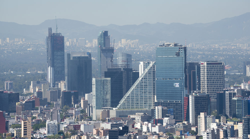 View of buildings in Mexico City, Mexico