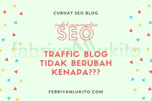 traffic blog tidak berubah (naik atau turun) padahal sudah menerapkan seo
