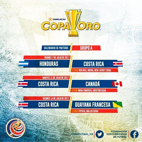 Calendario Copa Oro