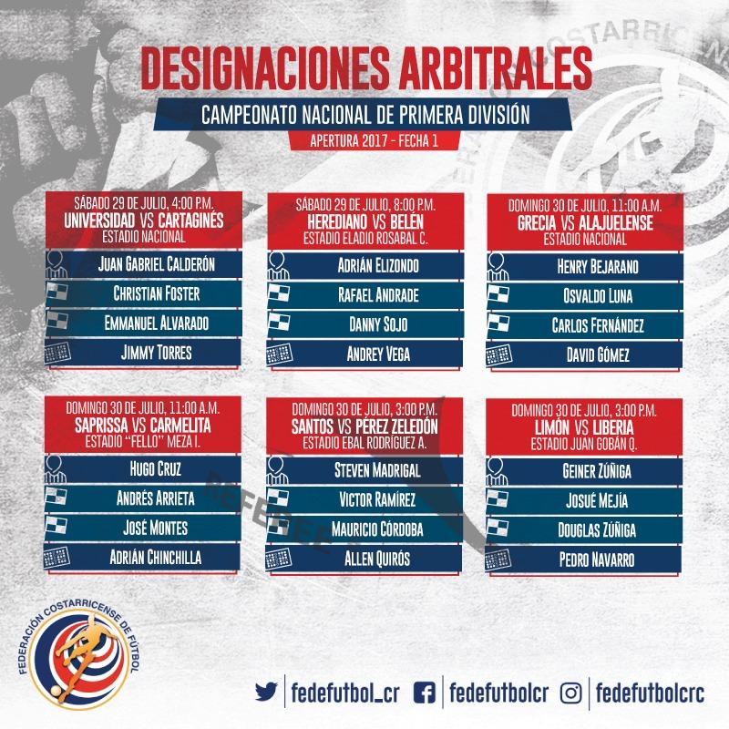 Jornada 1-Apertura 2017