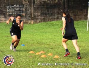 Mariela Campos entreno Sele Sub 20 Femenina