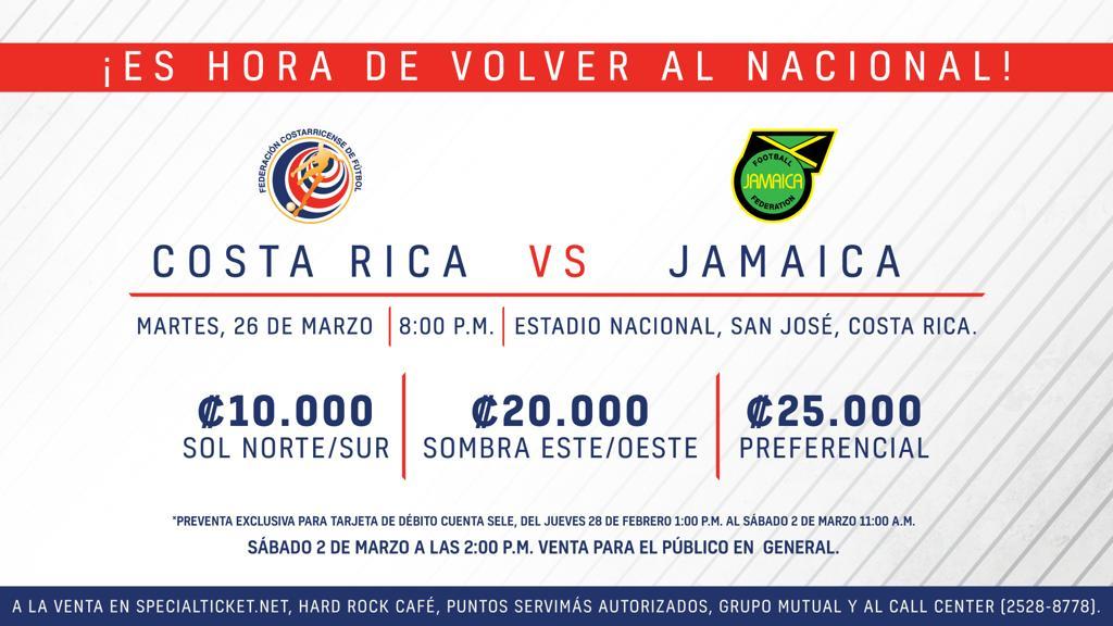 Mañana inicia preventa de entradas para Jamaica