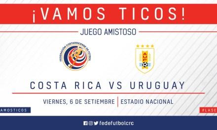 Costa Rica se medirá a Uruguay en setiembre