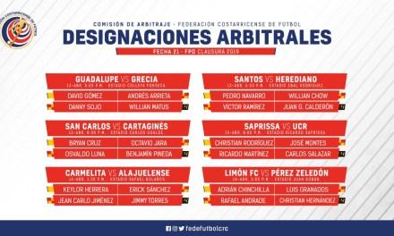 Definidos los árbitros para la jornada 21