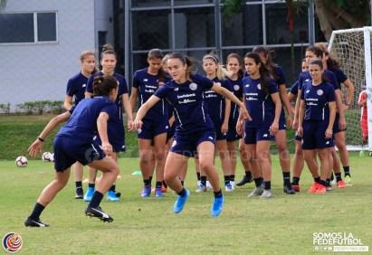 Selección femenina ultimo entreno CRC 2