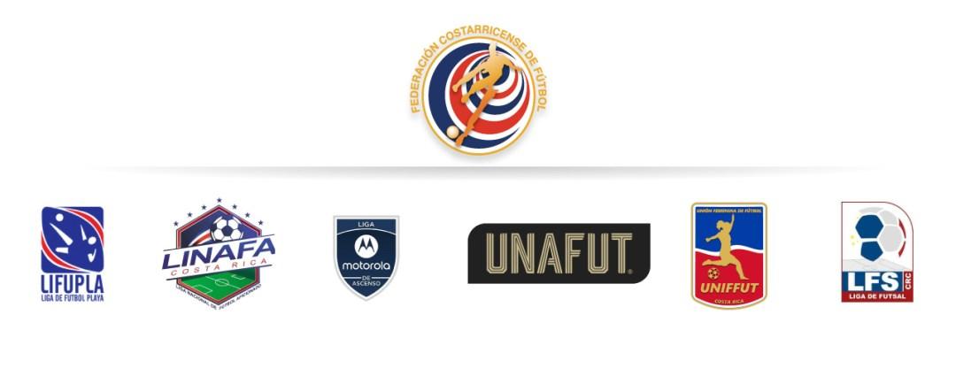 Logos: Fedefutbol, Lifutpla, Linafa, Liga Motorola de Ascenso, Unafut, Uniffut, Lifutsal