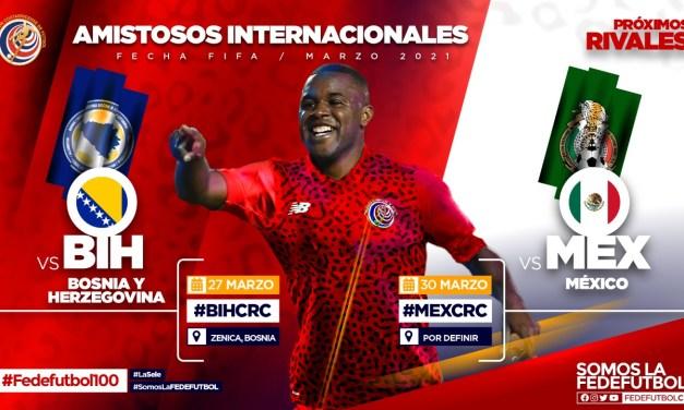 Costa Rica jugará partidos amistosos de primer nivel en marzo