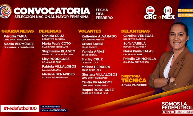 Amelia Valverde eligió las jugadoras para enfrentar a México