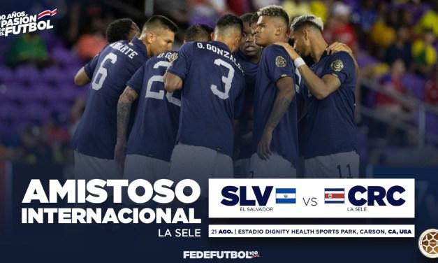 Fedefútbol confirma amistoso ante El Salvador