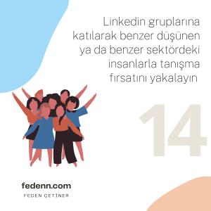 Linkedin gruplarına katılmak