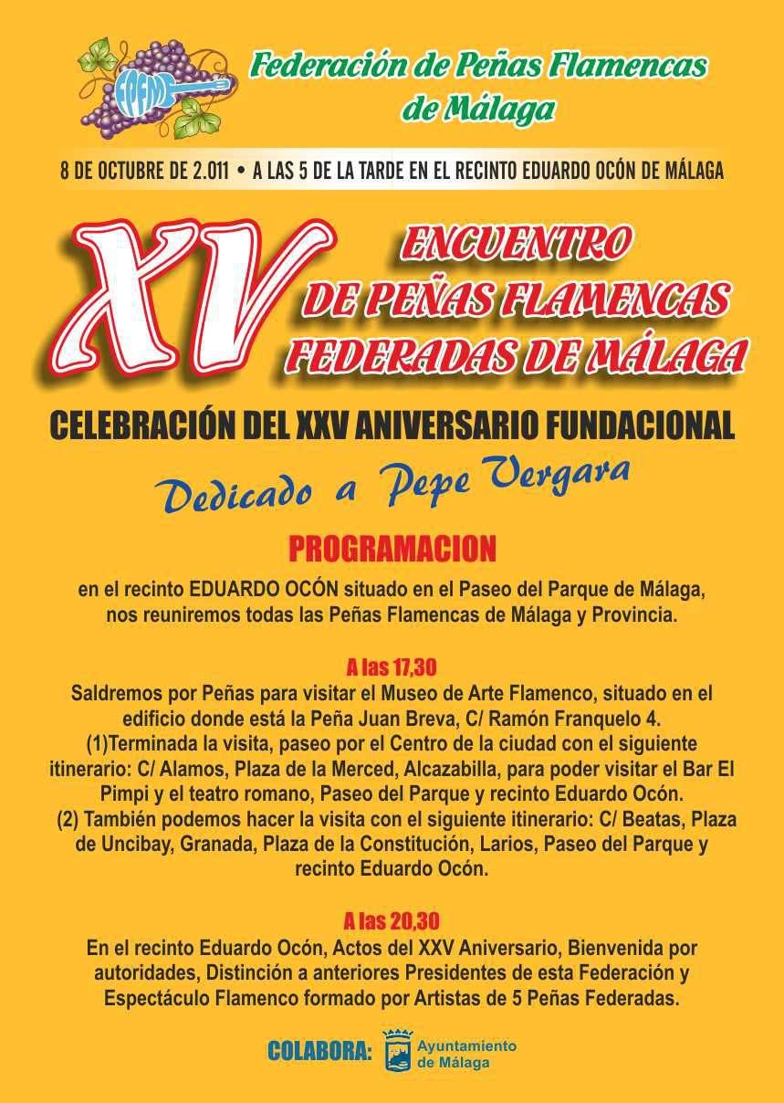 XV ENCUENTRO DE PEÑAS FLAMENCAS DE MALAGA