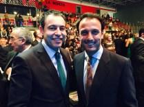 El presidente de la FCCV, Vicente Seguí, y el director general de Deportes de la GVA, Mateo Castellá.