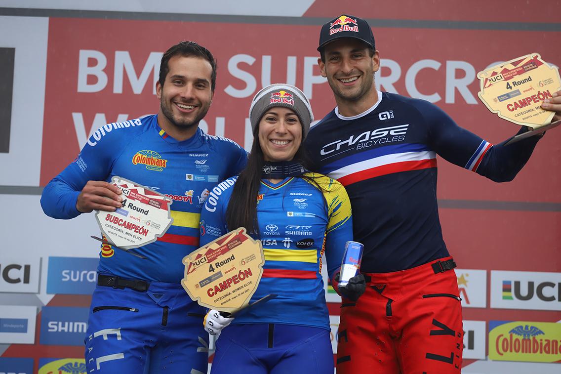 Mariana Pajón y Carlos Ramírez, se encumbran en el Ranking Mundial UCI de  BMX – Federación Colombiana de Ciclismo
