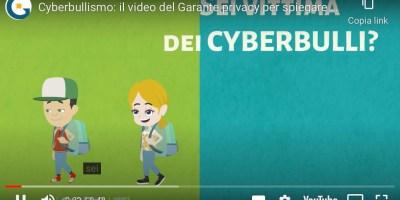 Video-Garante-Privacy-bullismo