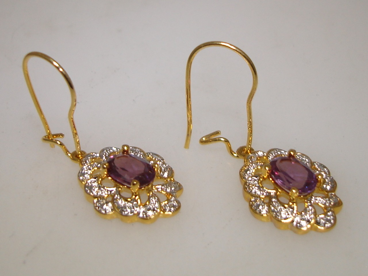 BEAUTIFUL STERLING SILVER WITH GOLD WASH MYSTIC FIRE TOPAZ ...