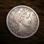 1902 BARBER QUARTER – GREAT DETAIL – MIGHT BE JUST THE COIN YOU'RE LOOKING FOR