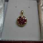 14k yellow gold RUBY PENDANT 1/4 CTW WELL MADE