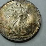 1946 WALKING LIBERTY HALF STUNNING BEAUTY AND TONING !! POWERFUL