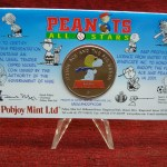 2001 NIUE $1 SNOOPY & THE RED BARON COLORIZED COIN IN ORIG. MINT PKG. – NEAT!