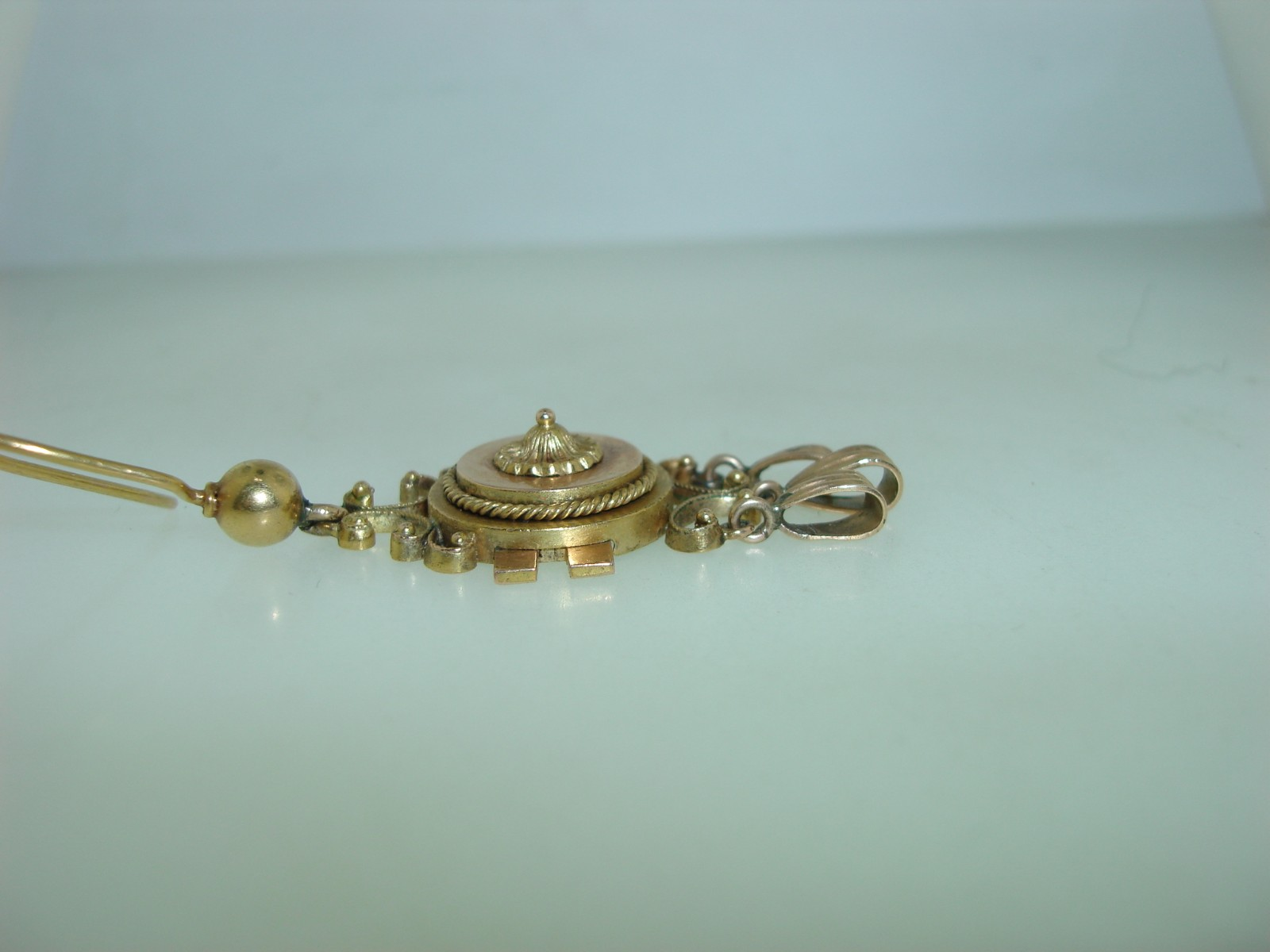 ETRUSCAN REVIVAL 14K HAND WROUGHT YELLOW & ROSE GOLD CHANDELIER