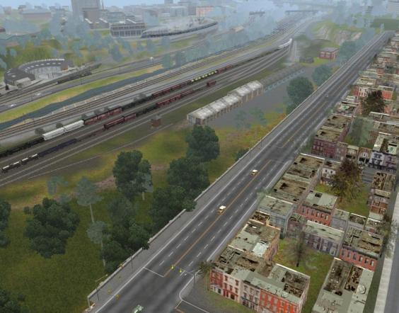 View Southeast over Mt Vernon Yard of the NCRR