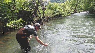 Marc en stage de pêche à la truite à la mouche