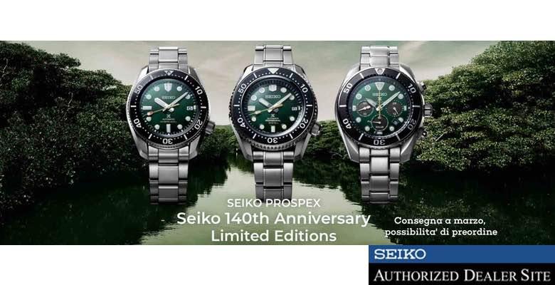 Seiko 140 Anniversario SLA047J1 SPB207J1 SSC807J1