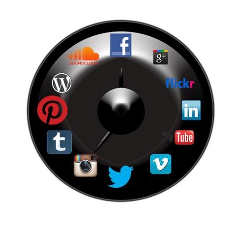 Redes Sociales Reloj
