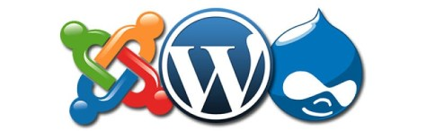 Logotipos de Drupal WordPress Joomla